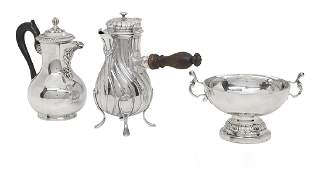 Three Pieces of French Silver Tableware