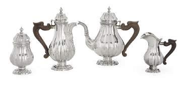 FourPiece Buccellati Sterling Silver Tea Set