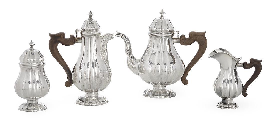 Four-Piece Buccellati Sterling Silver Tea Set