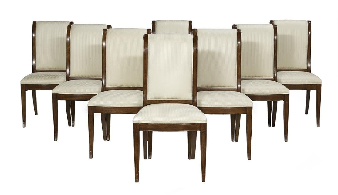 Suite of Eight Henredon Fruitwood Side Chairs