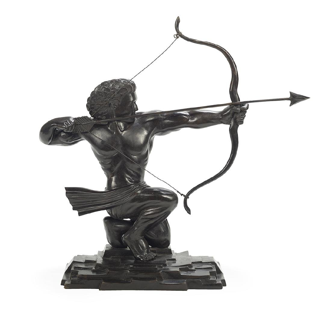 Art Deco-Style Bronze Figure of an Archer