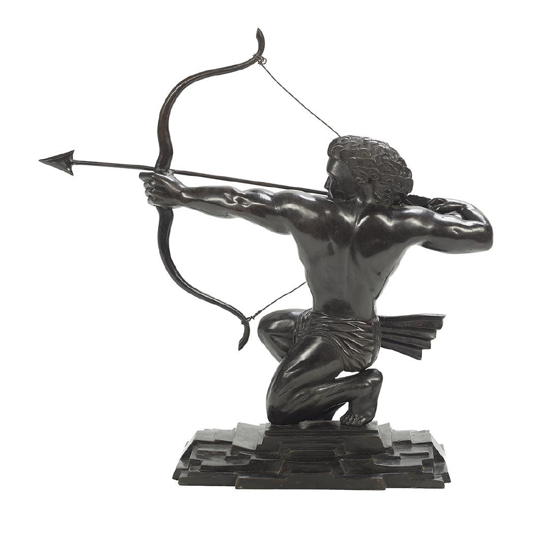 Art Deco-Style Bronze Figure of an Archer - 2