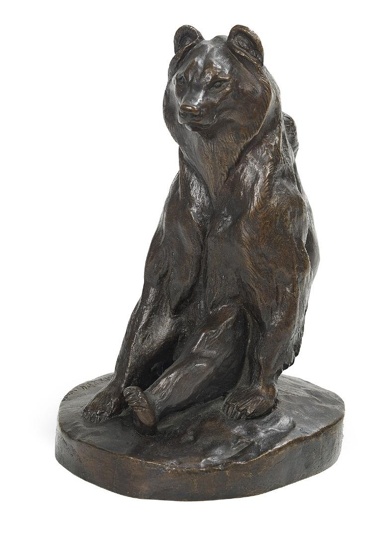 Russian Patinated Bronze of a Bear