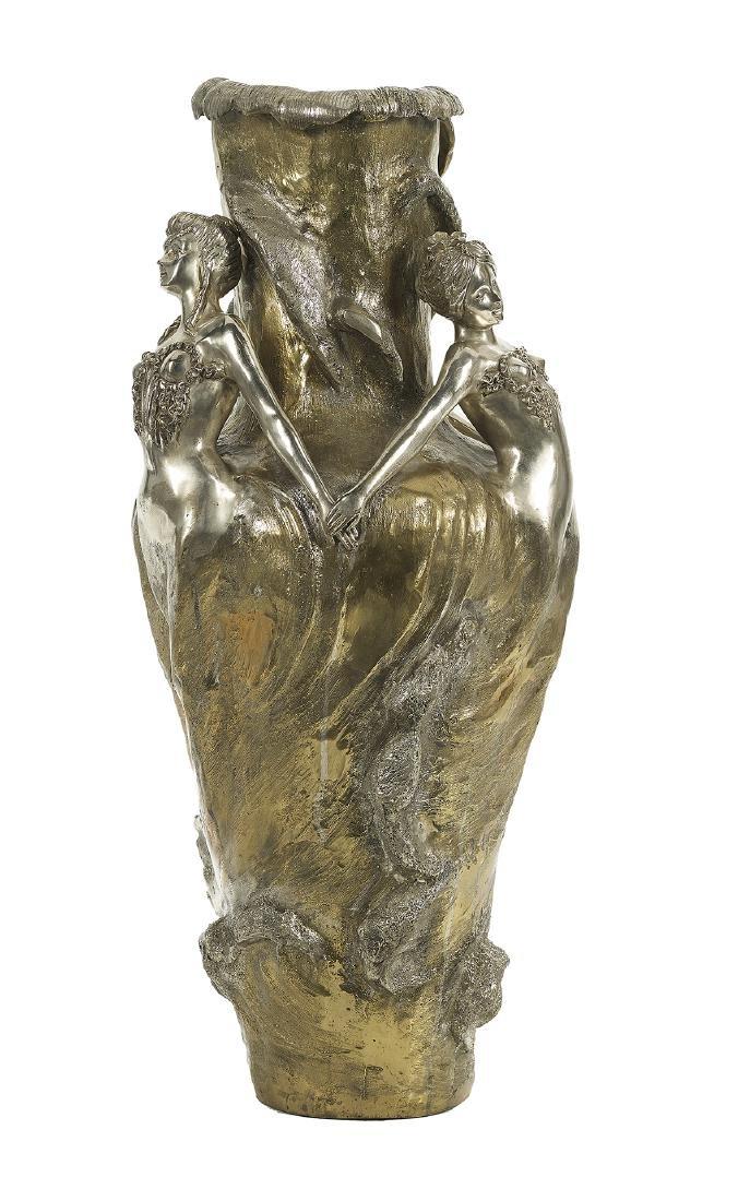 Large Art Nouveau-Style Bronze Vase - 2