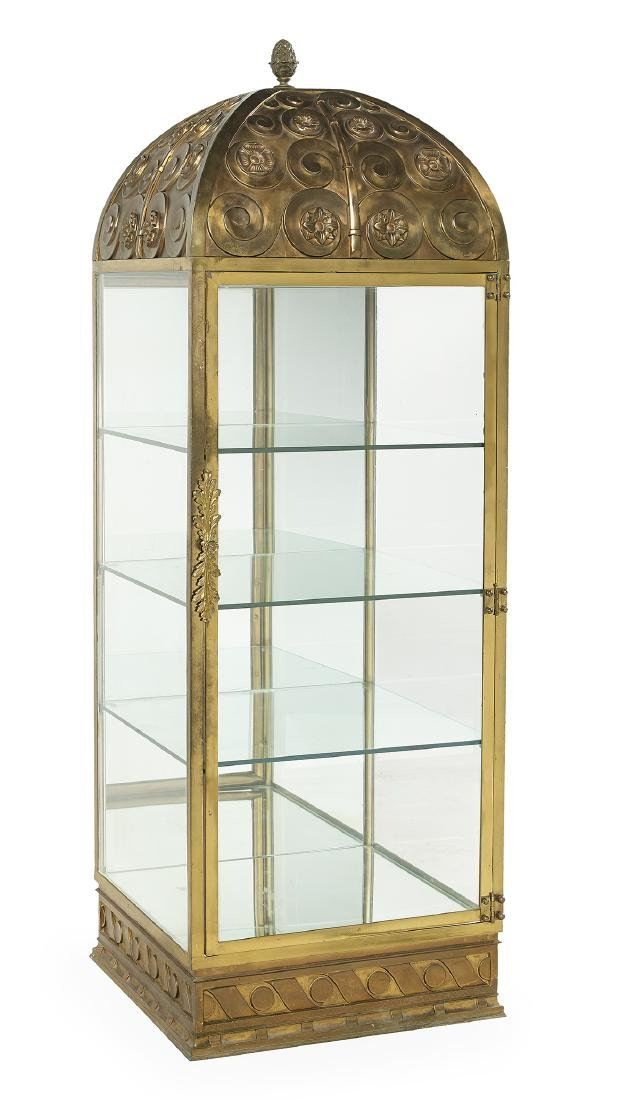Highly Unusual Art Deco Cast Bronze Vitrine