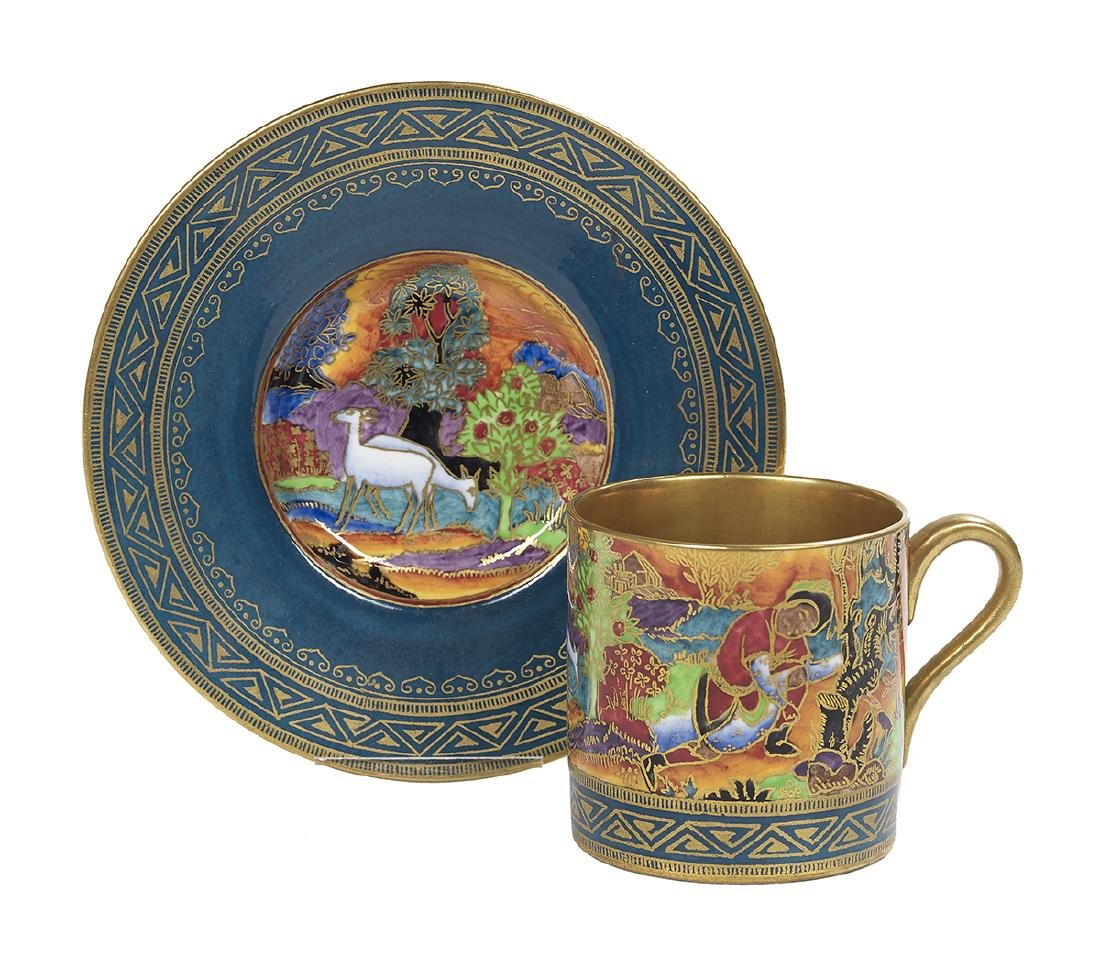 Wedgwood Fairyland Lustre Coffee Can and Saucer