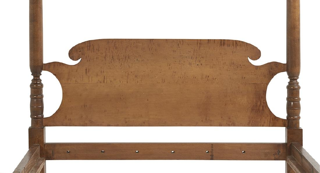 American Federal Figured Maple Four-Post Bed - 2