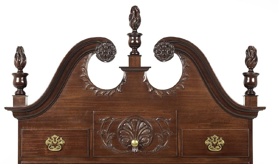 American Chippendale-Style Mahogany High Chest - 3