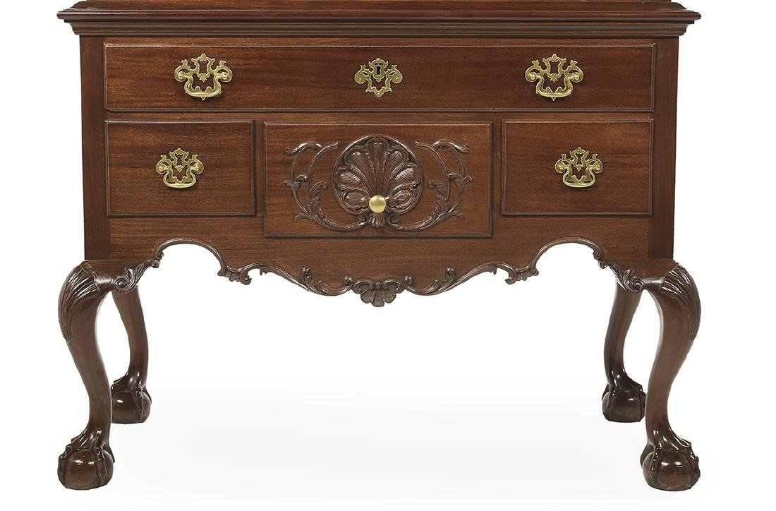 American Chippendale-Style Mahogany High Chest - 4