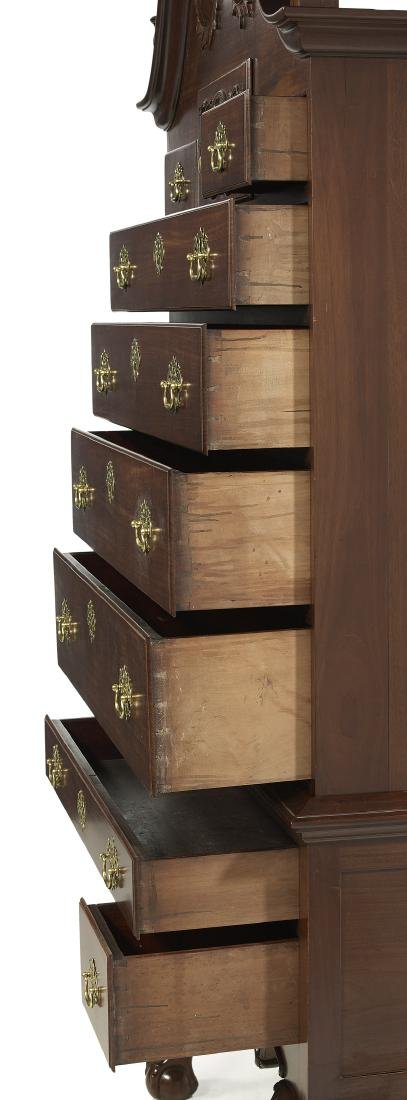 American Chippendale-Style Mahogany High Chest - 5