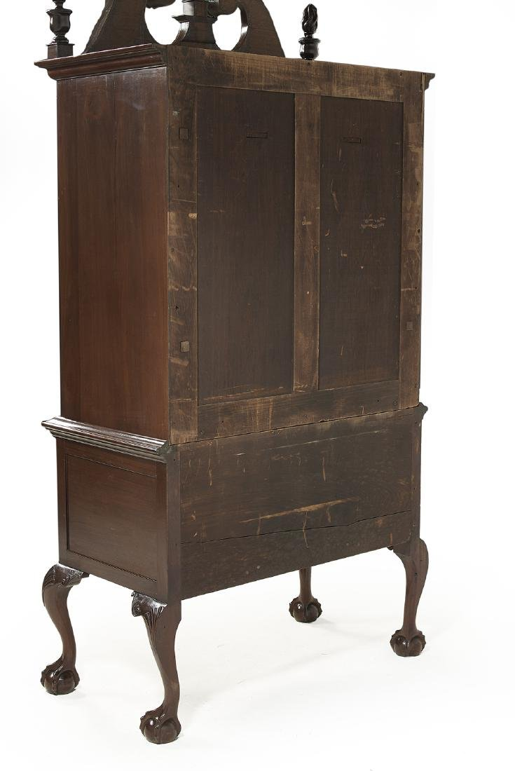 American Chippendale-Style Mahogany High Chest - 6
