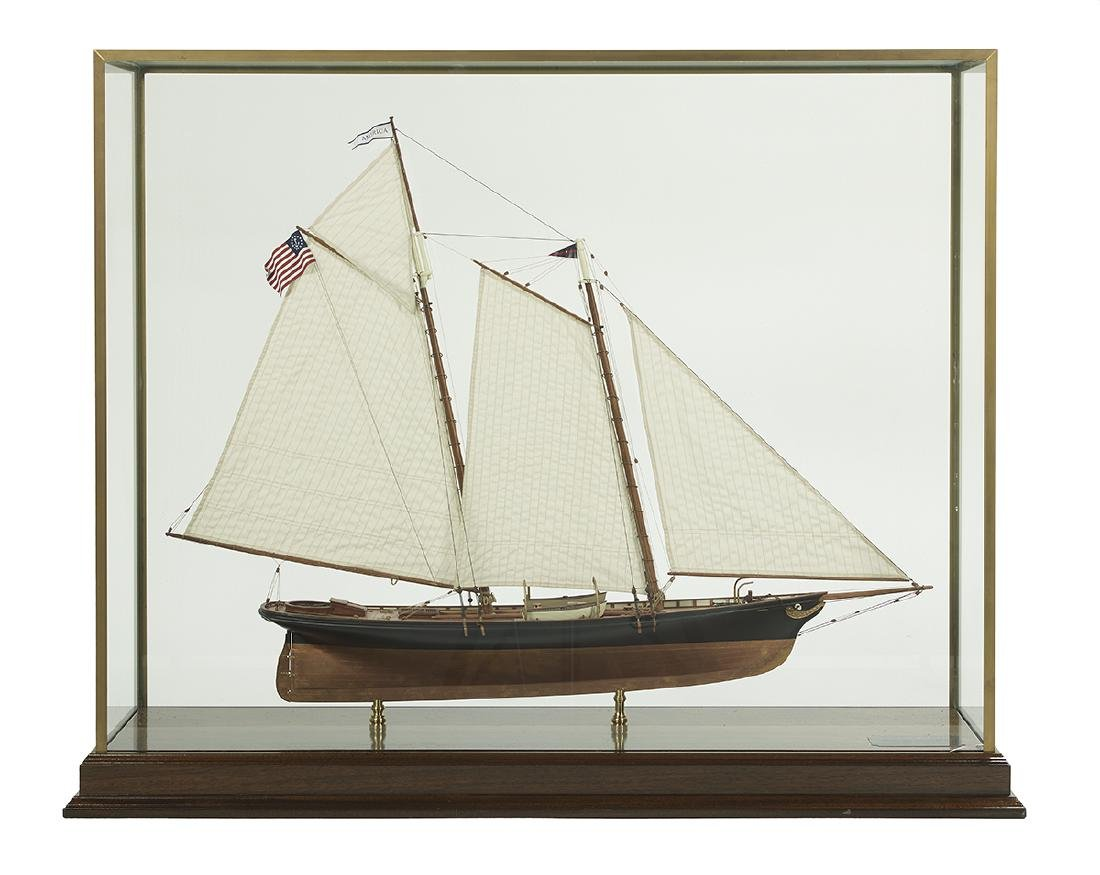 "Model of the Racing Yacht ""America"""
