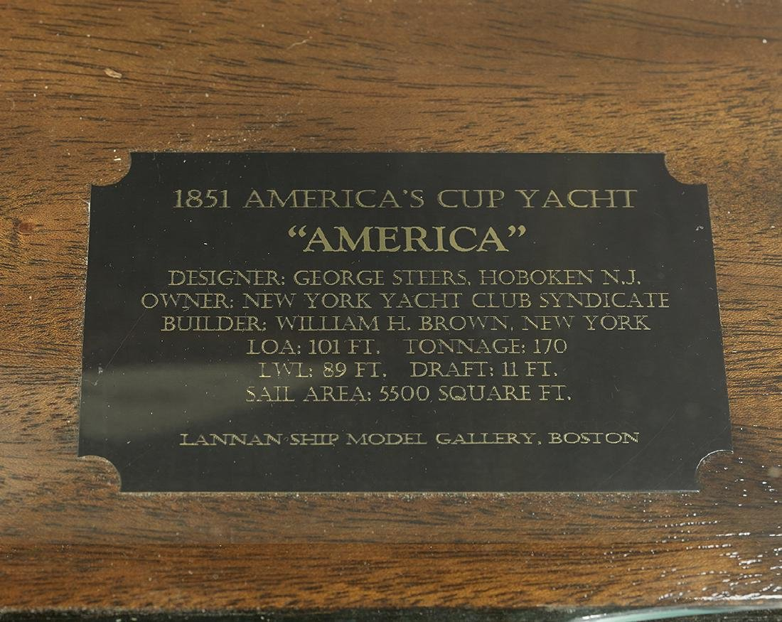 "Model of the Racing Yacht ""America"" - 3"