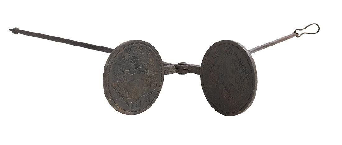 Rare American Cast Iron Wafer Iron