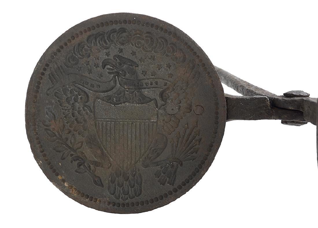 Rare American Cast Iron Wafer Iron - 2