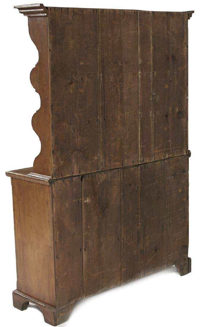 Early American Pine Step-back Pewter Cupboard - 3