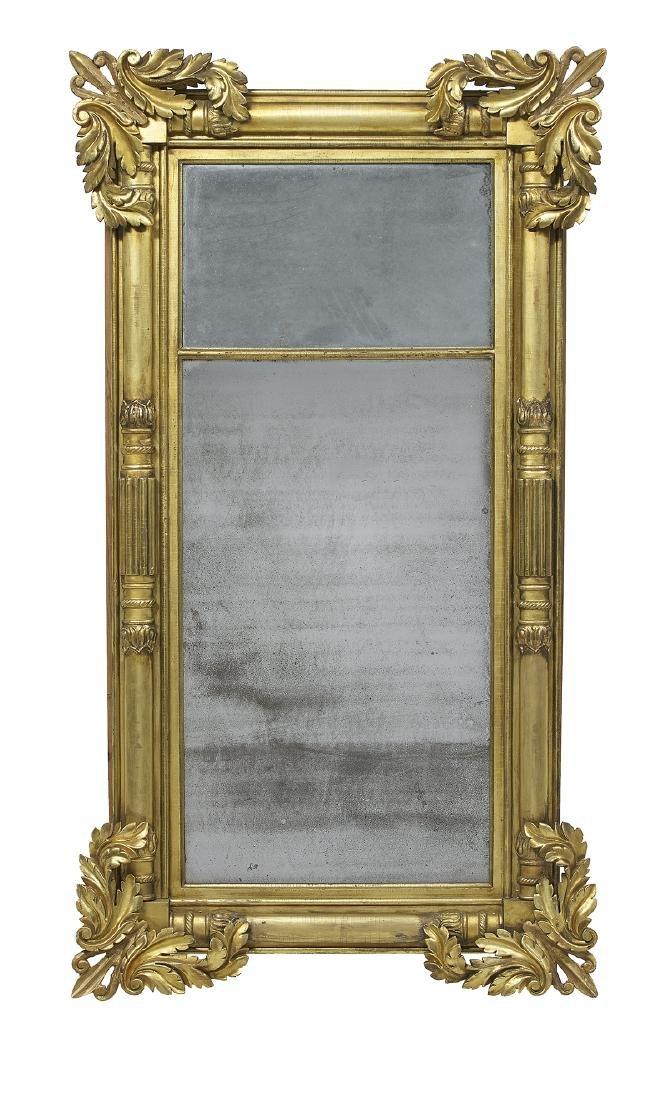 American Classical Giltwood Tabernacle Mirror