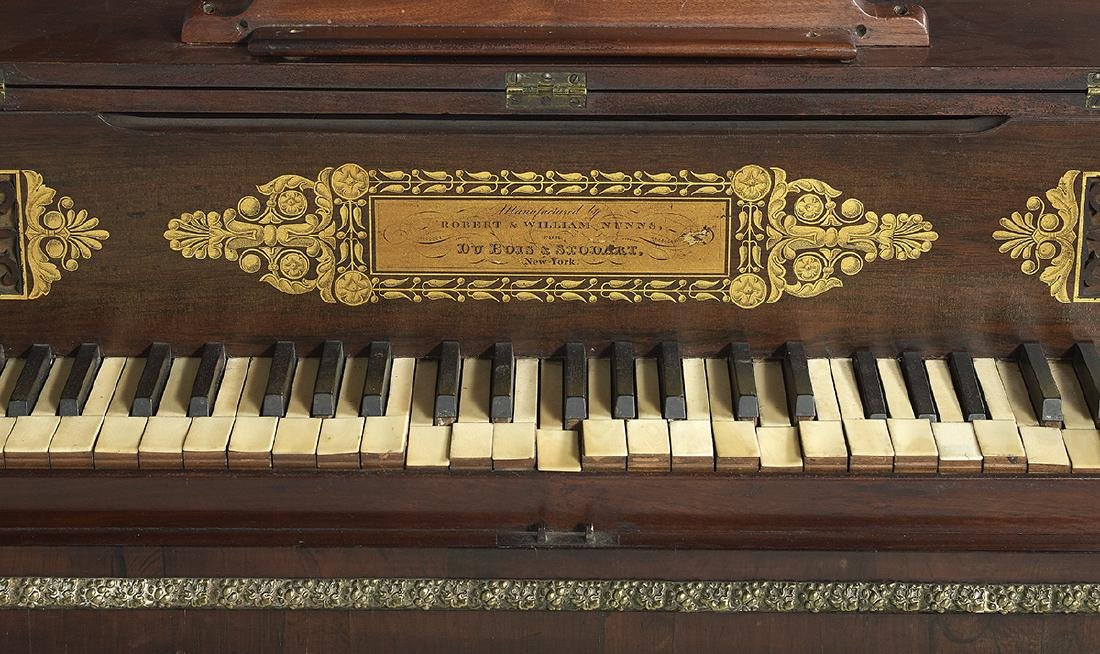 American Rosewood and Mahogany Pianoforte - 3