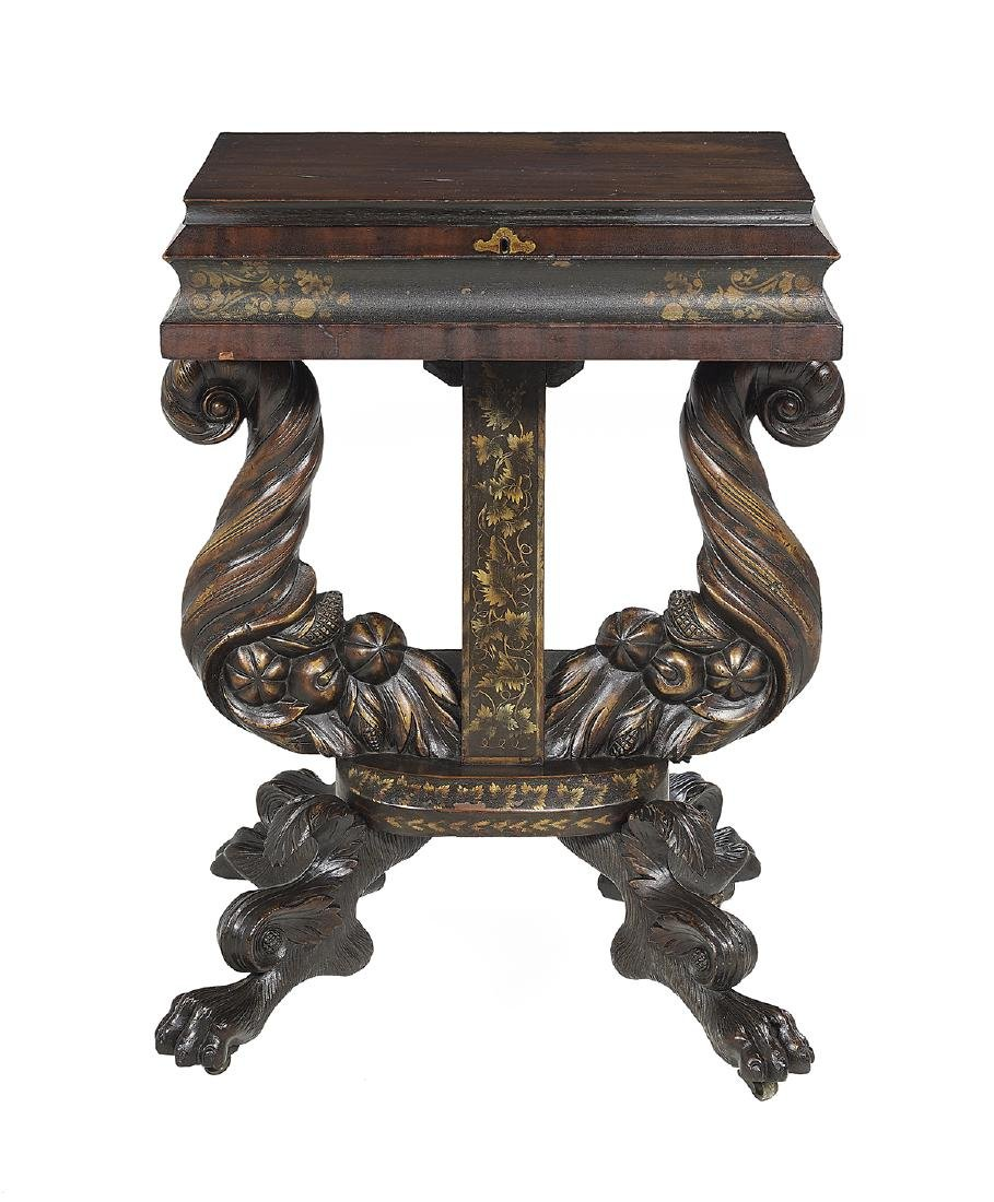 American Late Classical Mahogany Work Table