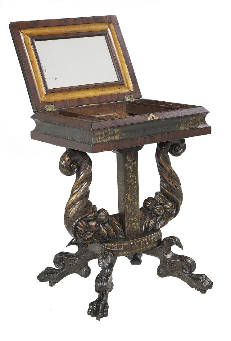 American Late Classical Mahogany Work Table - 2