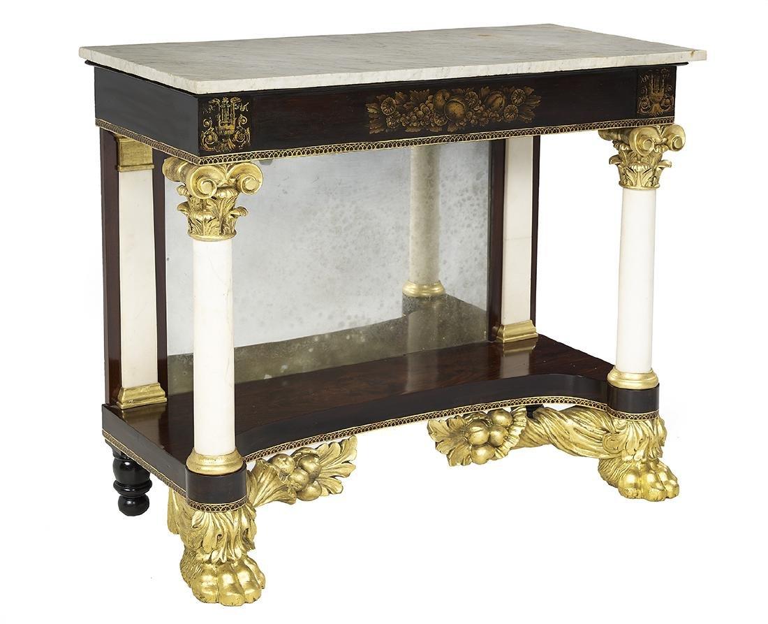 American Classical Mahogany Pier Table - 2