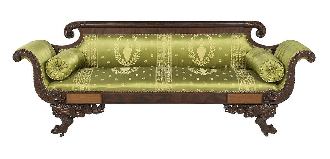American Classical Mahogany Sofa