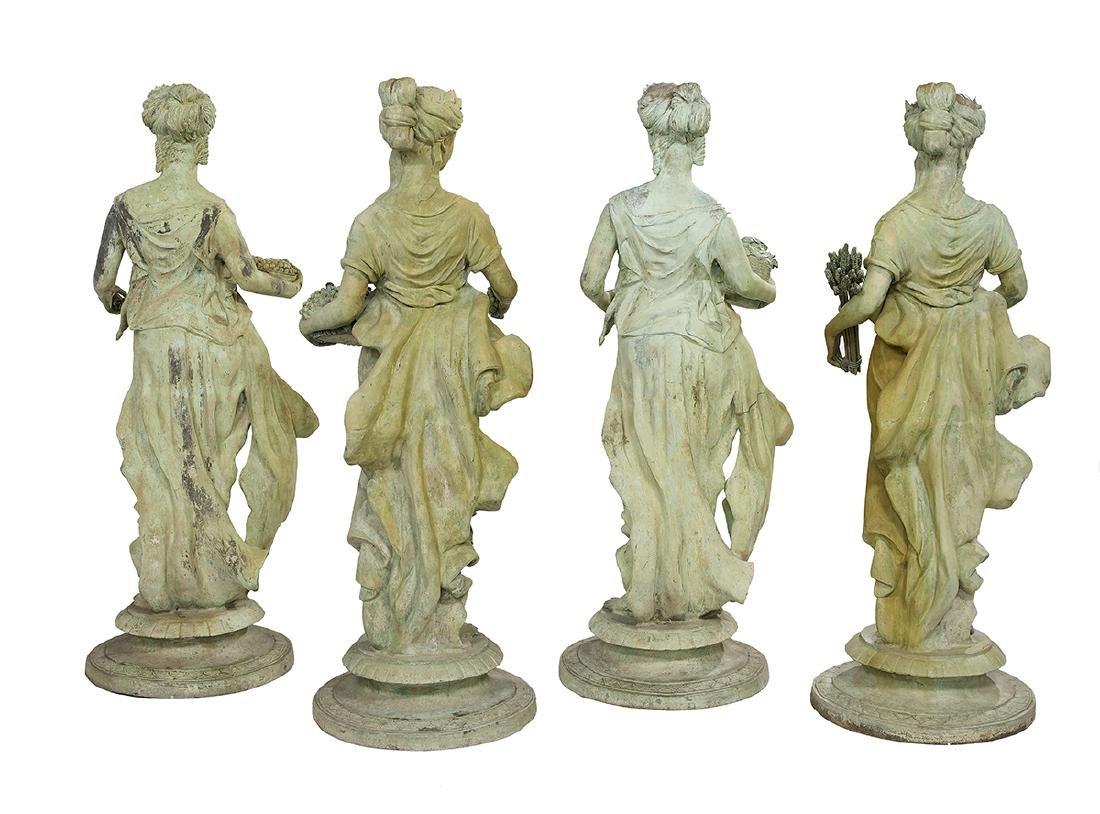 Set of Four Bronze Garden Figures of the Seasons - 2