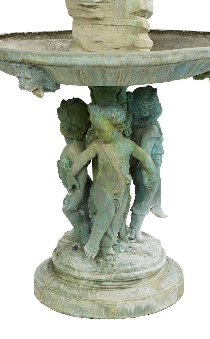 Elaborate Bronze Two-Tier Fountain - 2