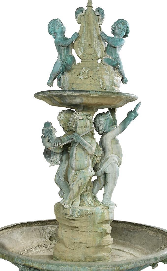 Elaborate Bronze Two-Tier Fountain - 3