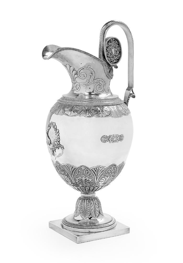 Fine Philadelphia Neoclassical Coin Silver Ewer