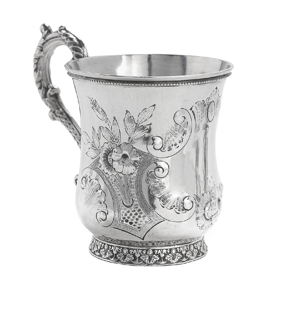 Five New Orleans and Richmond Coin Silver Mugs - 2