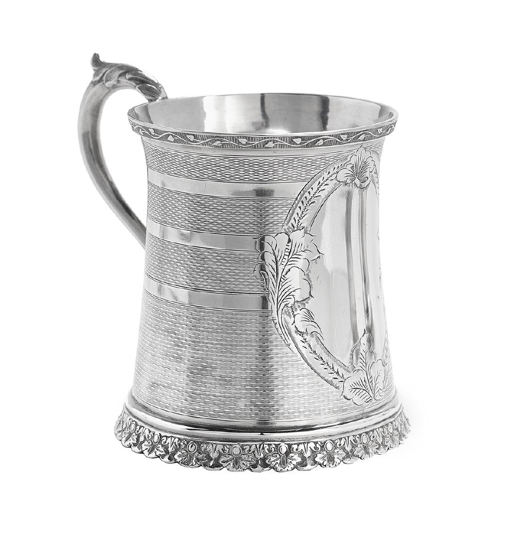 Five New Orleans and Richmond Coin Silver Mugs - 3