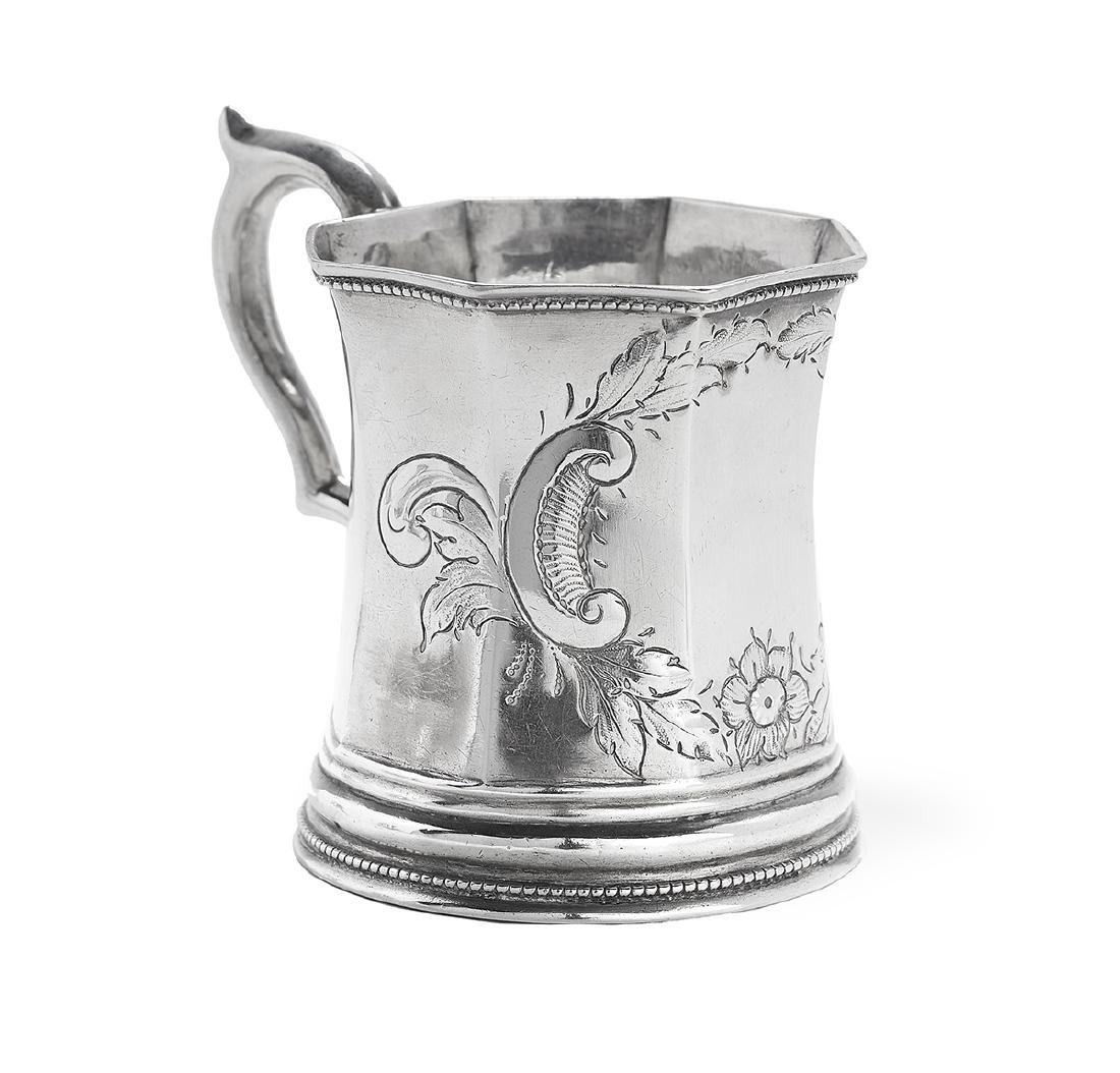Five New Orleans and Richmond Coin Silver Mugs - 4