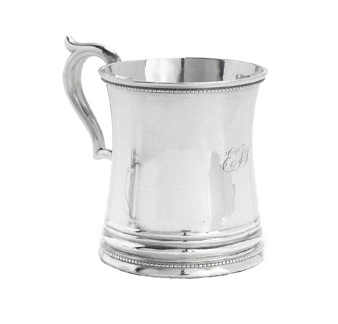 Five New Orleans and Richmond Coin Silver Mugs - 5