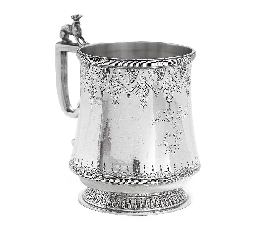 Five New Orleans and Richmond Coin Silver Mugs - 6