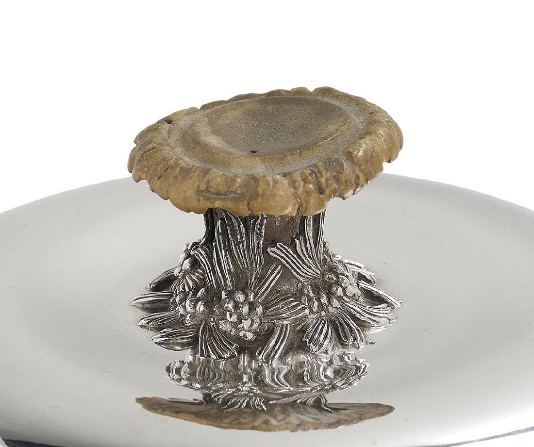 """Tiffany Silver & Antler """"Pine Cone"""" Chafing Dish - 4"""