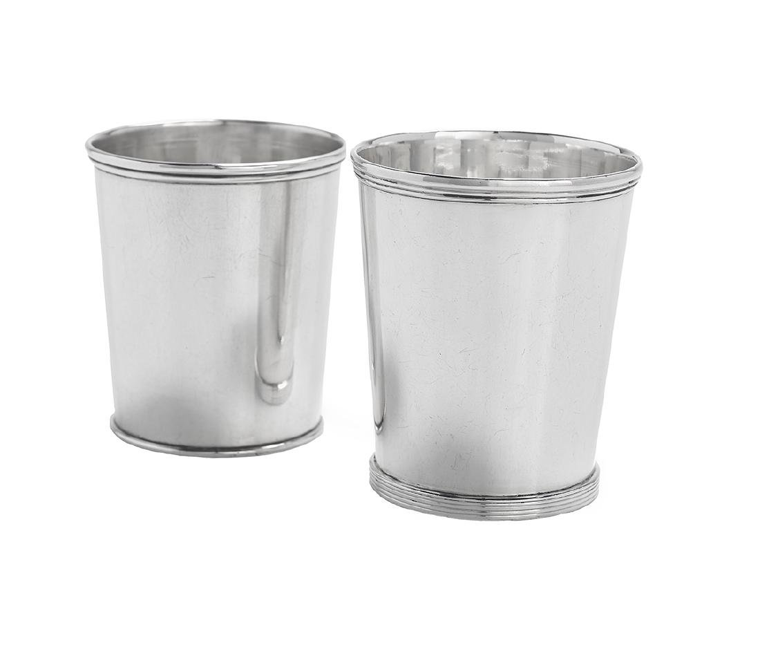 Two Louisville, Kentucky Coin Silver Julep Cups