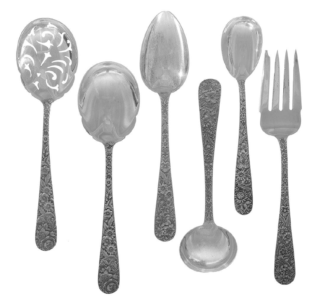 "Kirk ""Repousse"" Sterling Silver Flatware Set - 2"