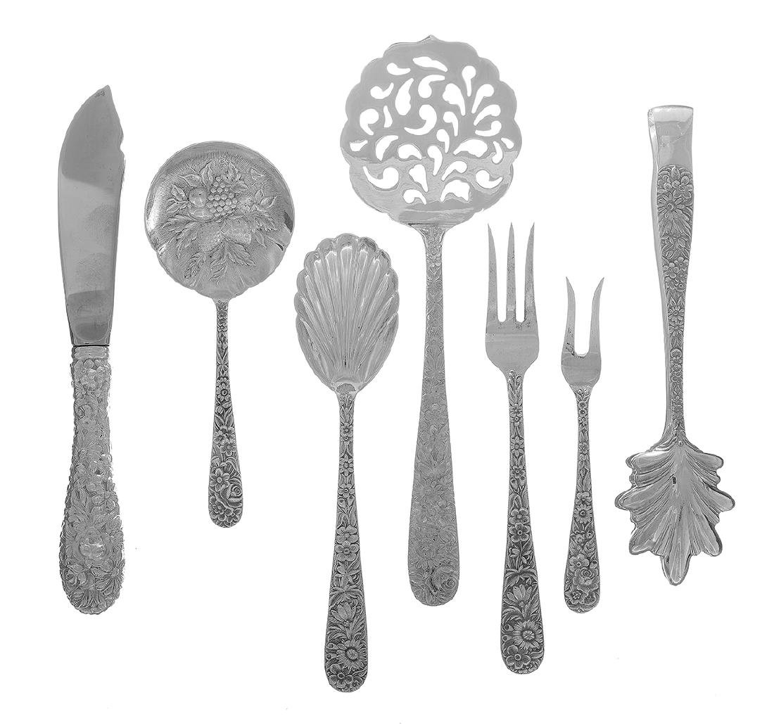 "Kirk ""Repousse"" Sterling Silver Flatware Set - 3"