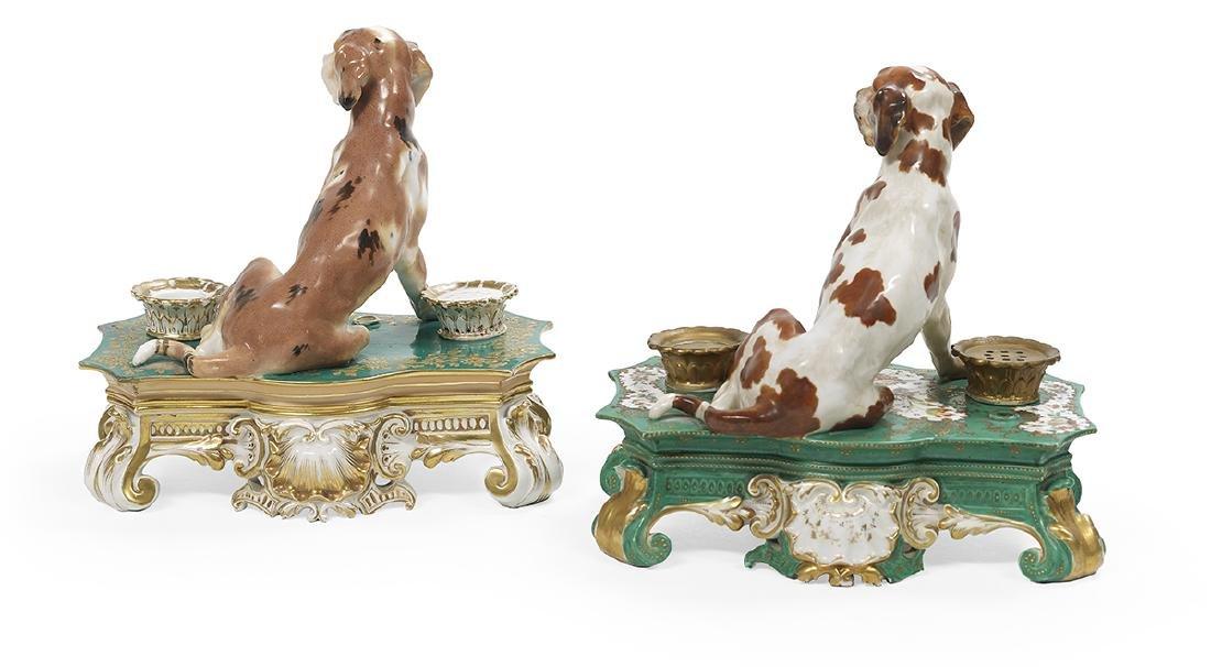 Two Similar Signed Jacob Petit Porcelain Encriers - 2
