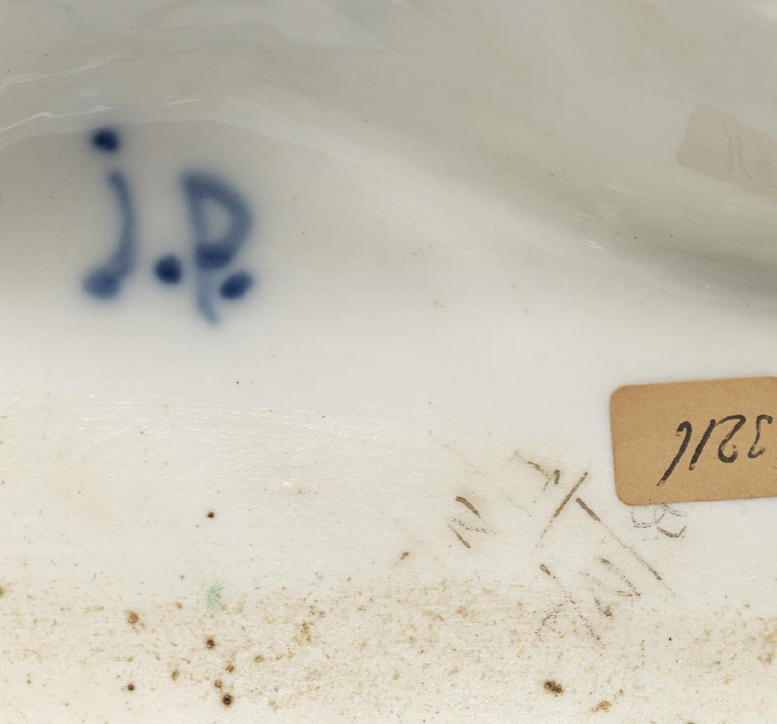 Two Similar Signed Jacob Petit Porcelain Encriers - 4