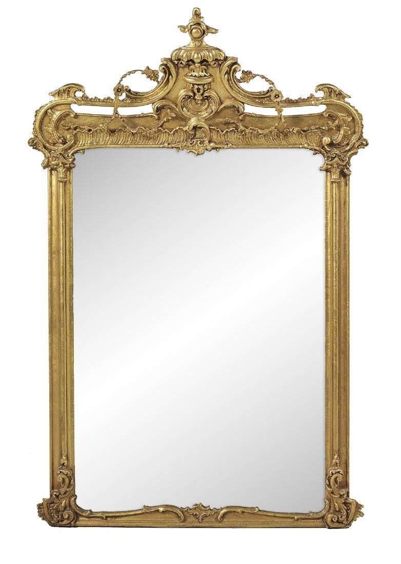 American Giltwood Overmantel Mirror
