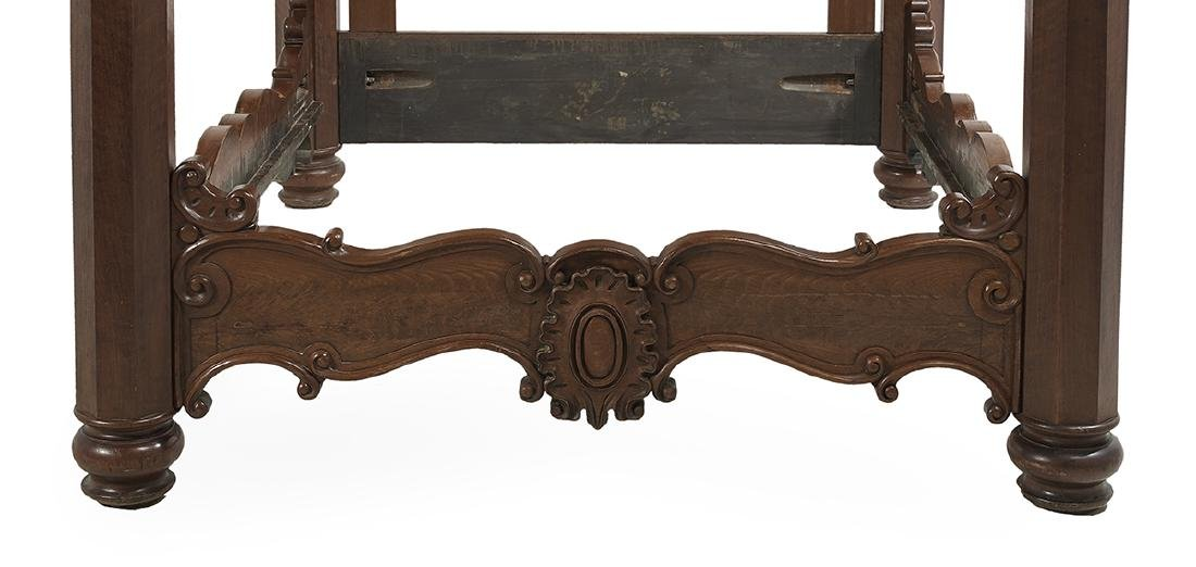 American Rococo Revival Walnut Four-Post Bed - 3
