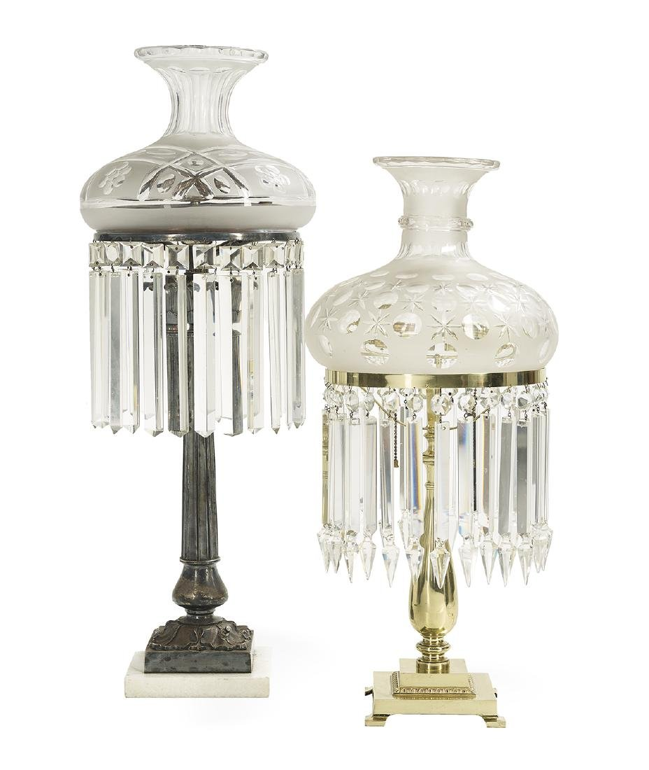 Two Colonial Revival Sinumbra-Style Lamps