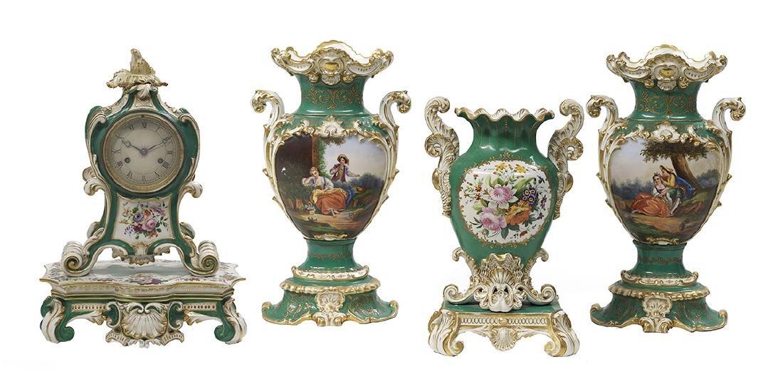 Four Pieces of Jacob Petit Porcelain