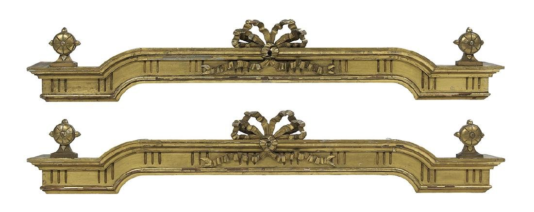 Pair of American Giltwood Window Pelmets
