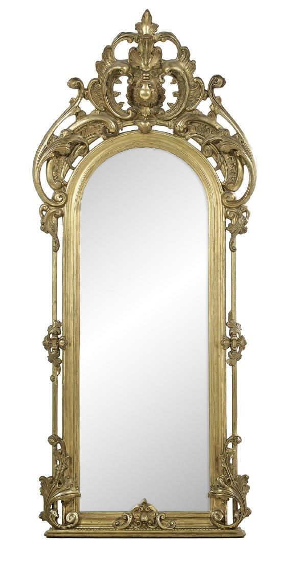 American Rococo Revival Giltwood Pier Mirror