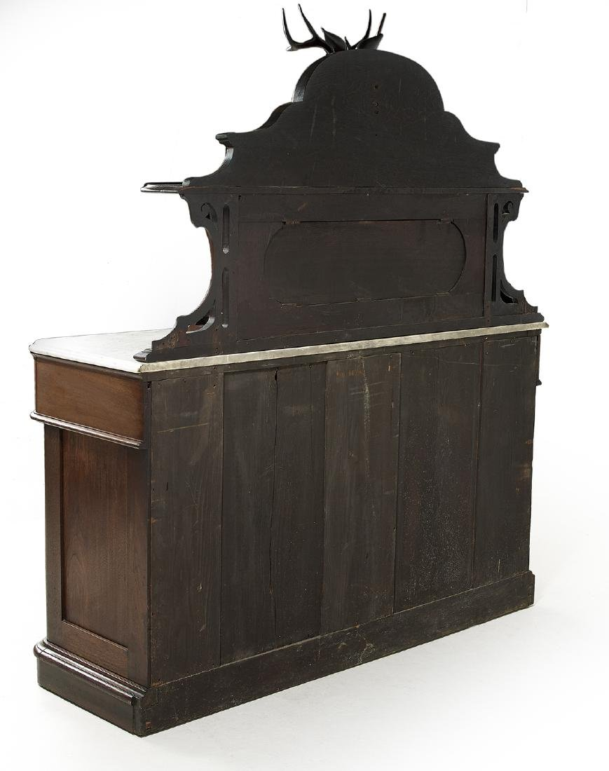 American Rococo Revival Marble-Top Sideboard - 4