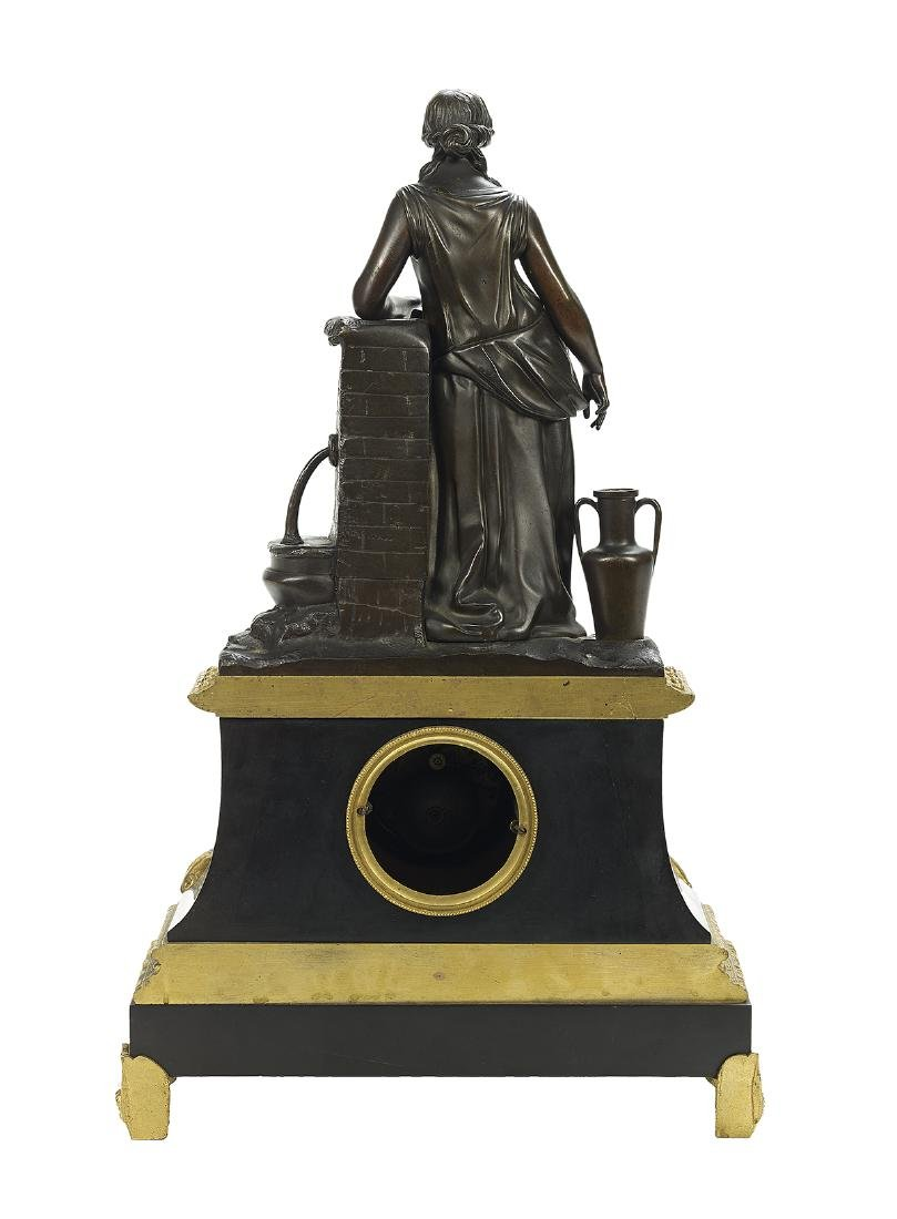 Napoleon III Bronze and Marble Clock - 2