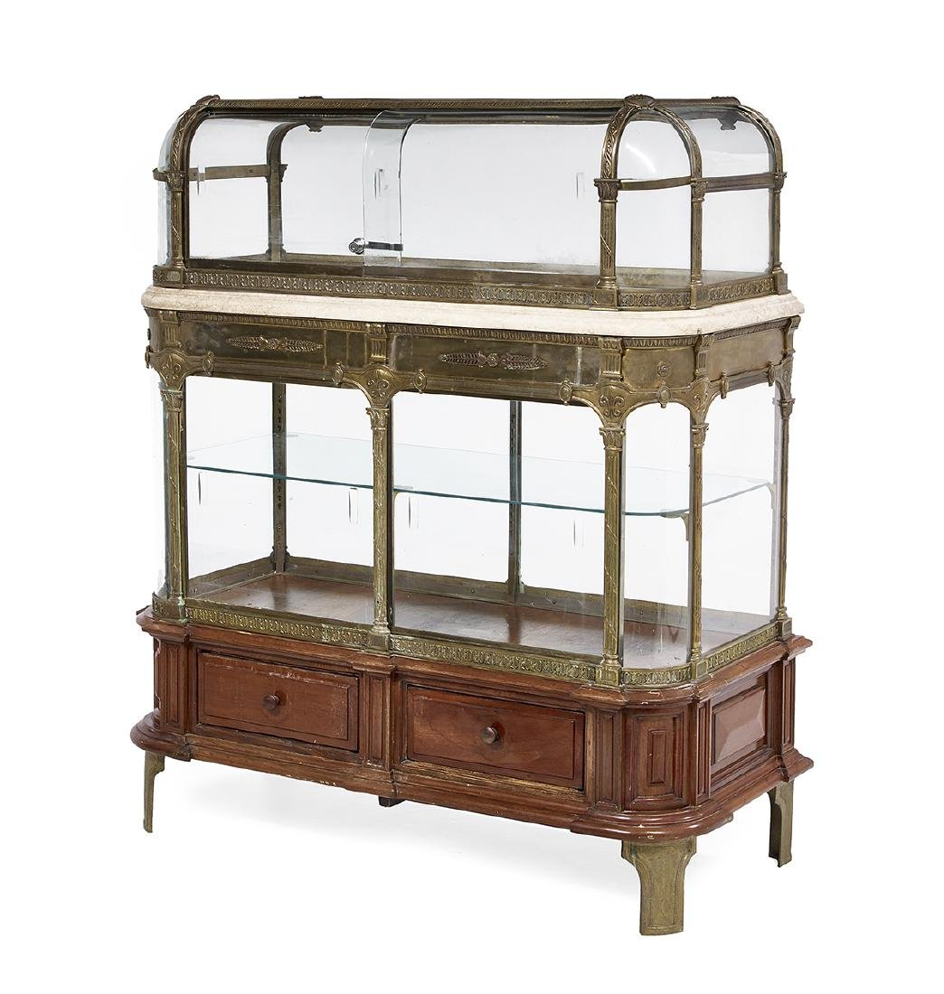 Belle Epoque Marble, Bronze and Brass Vitrine - 2